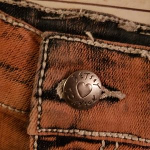 BETSEY JOHNSON ADORABLE distressed jeans shorts